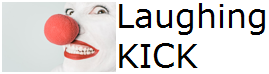 logo, laughingkick, laughing kick, kickblue22, laughing clown, smiling clown, clown school, mime, red nose day, comedy